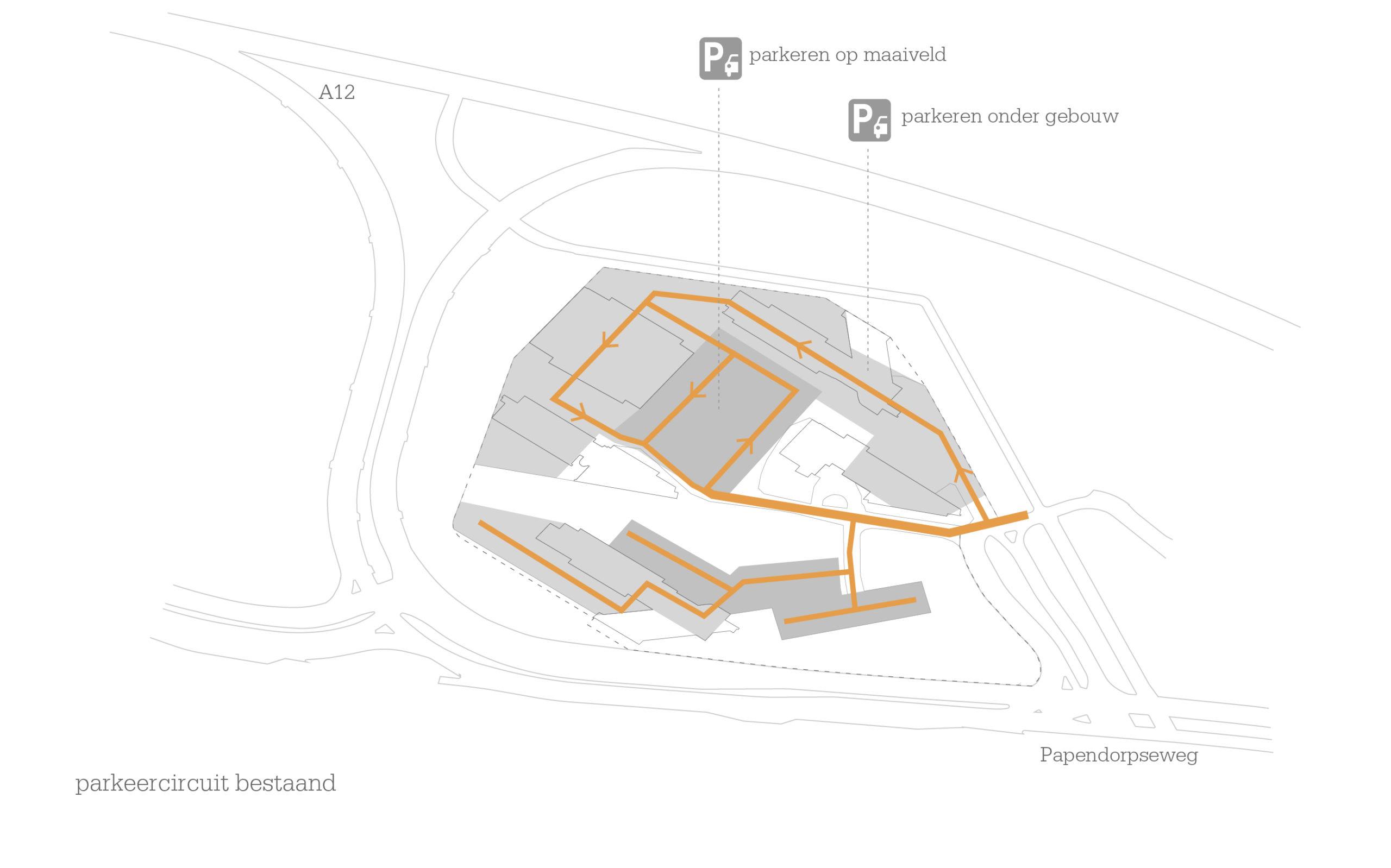 1601-Secoya Campus Utrecht_03-parkeercircuit bestaande situatie