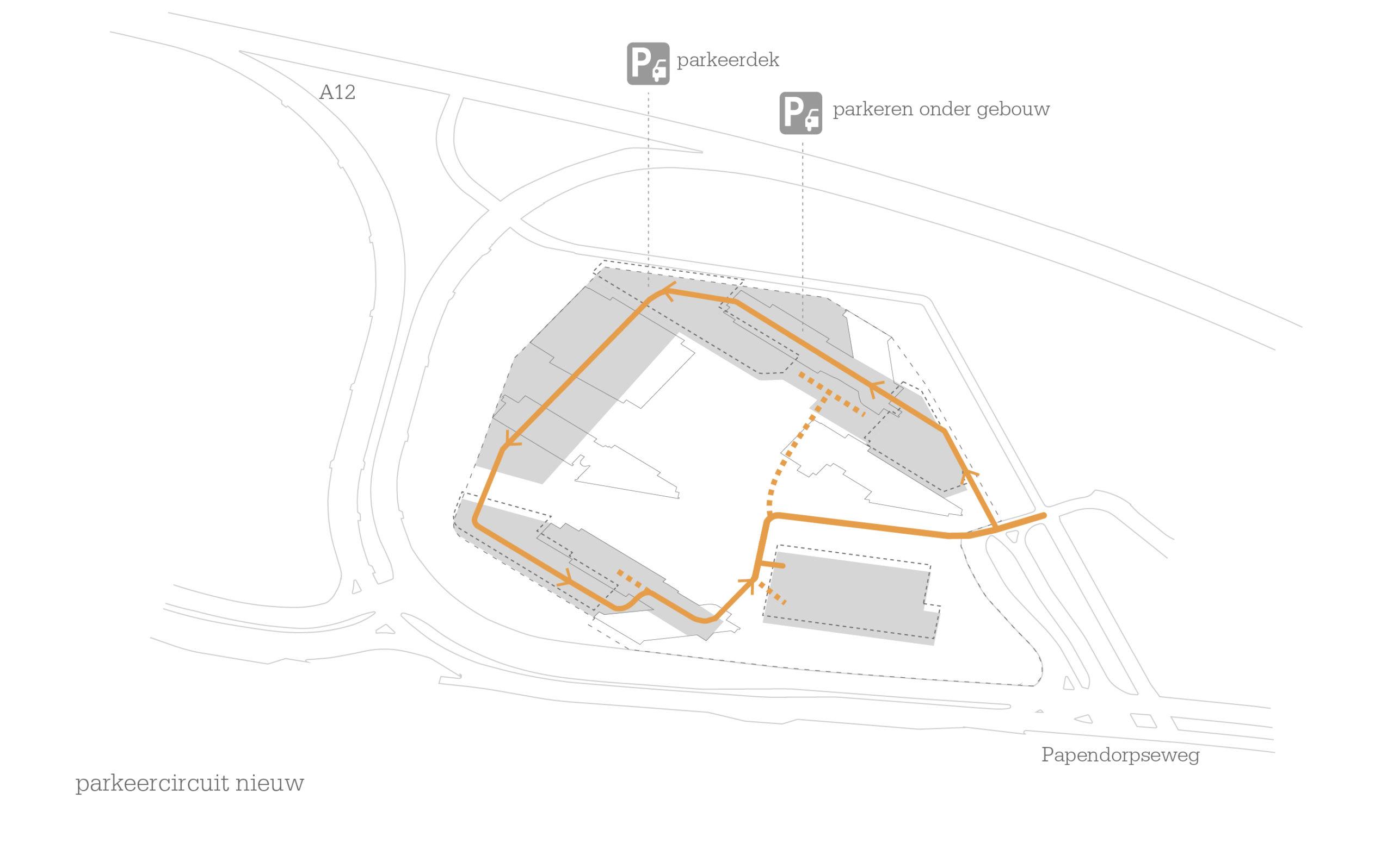 1601-Secoya Campus Utrecht_04-parkeercircuit nieuwe situatie