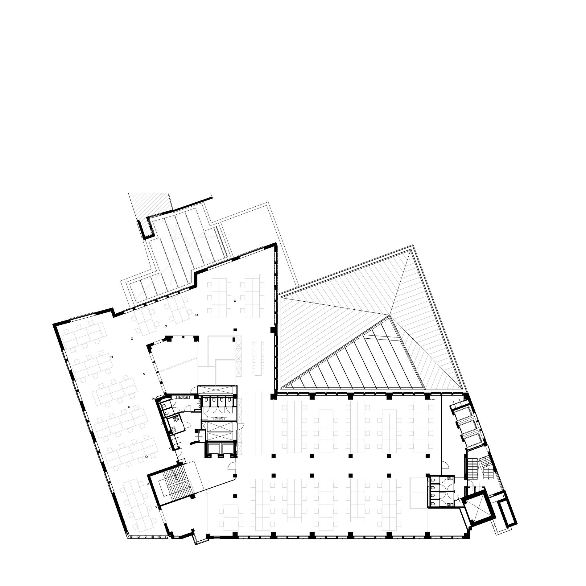 Plattegrond 2e verdieping van Nieuwezijds Voorburgwal 225 door Rijnboutt