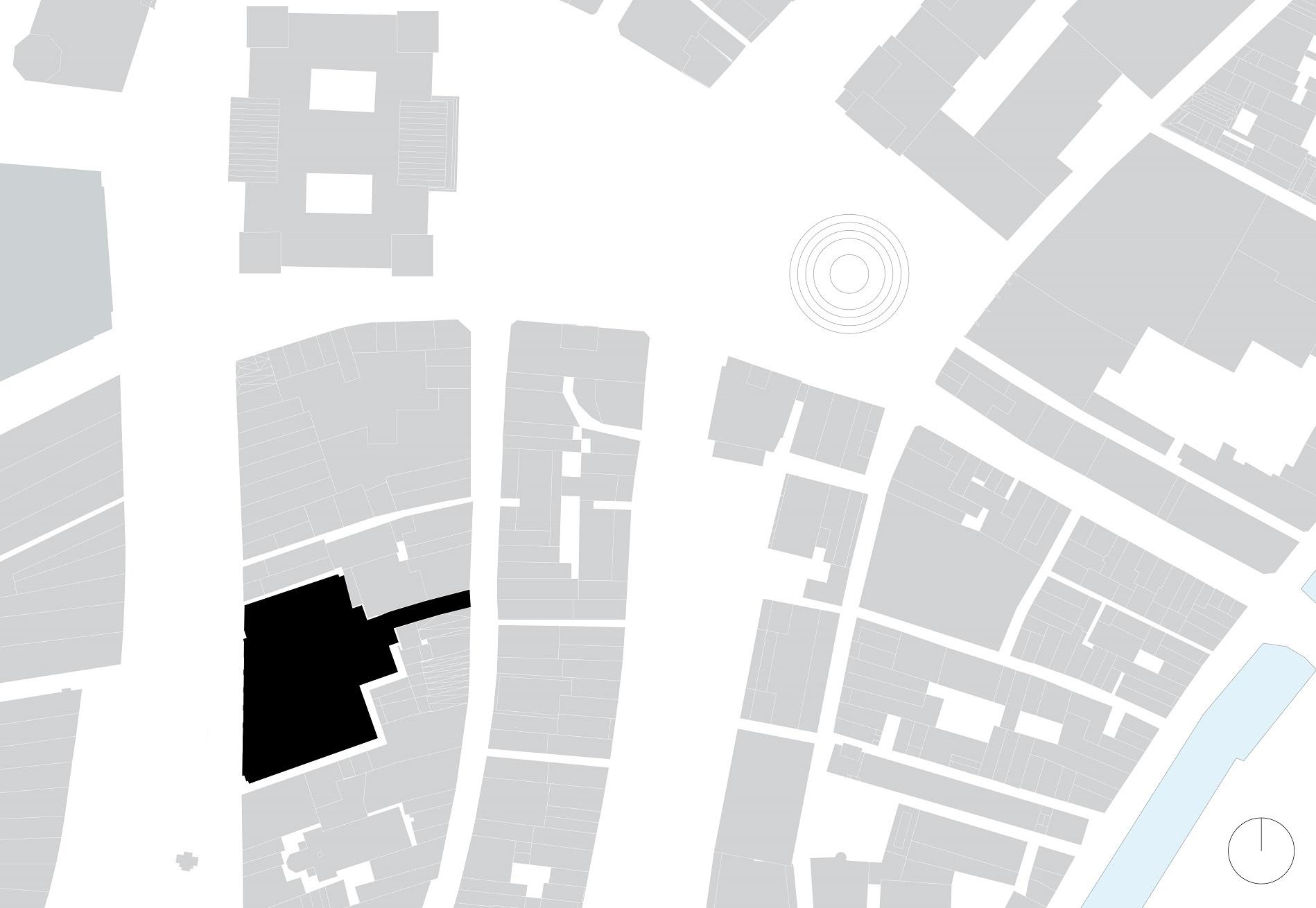 Situatietekening van Nieuwezijds Voorburgwal 225 door Rijnboutt
