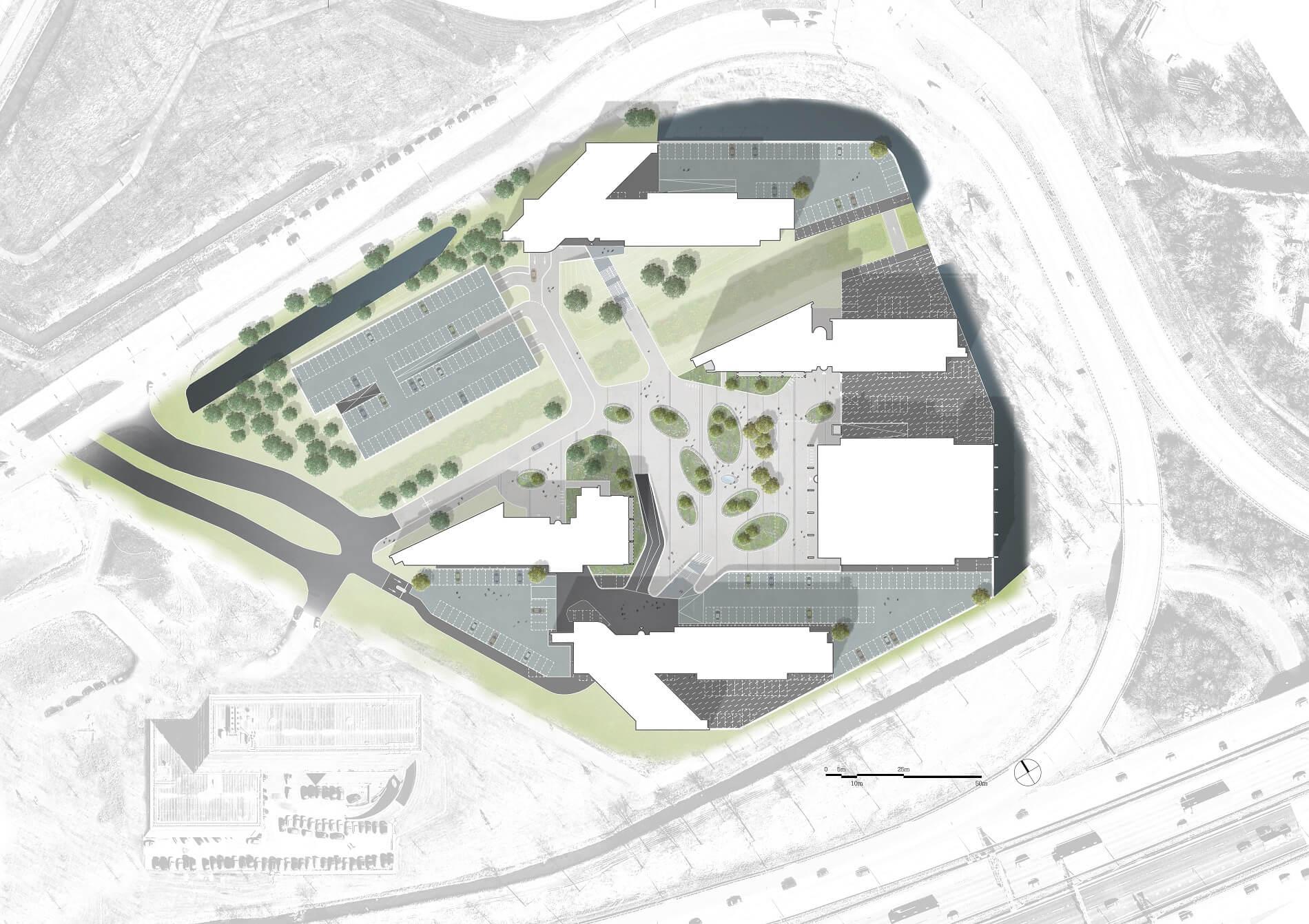 Plankaart van Secoya Papendorp door Rijnboutt