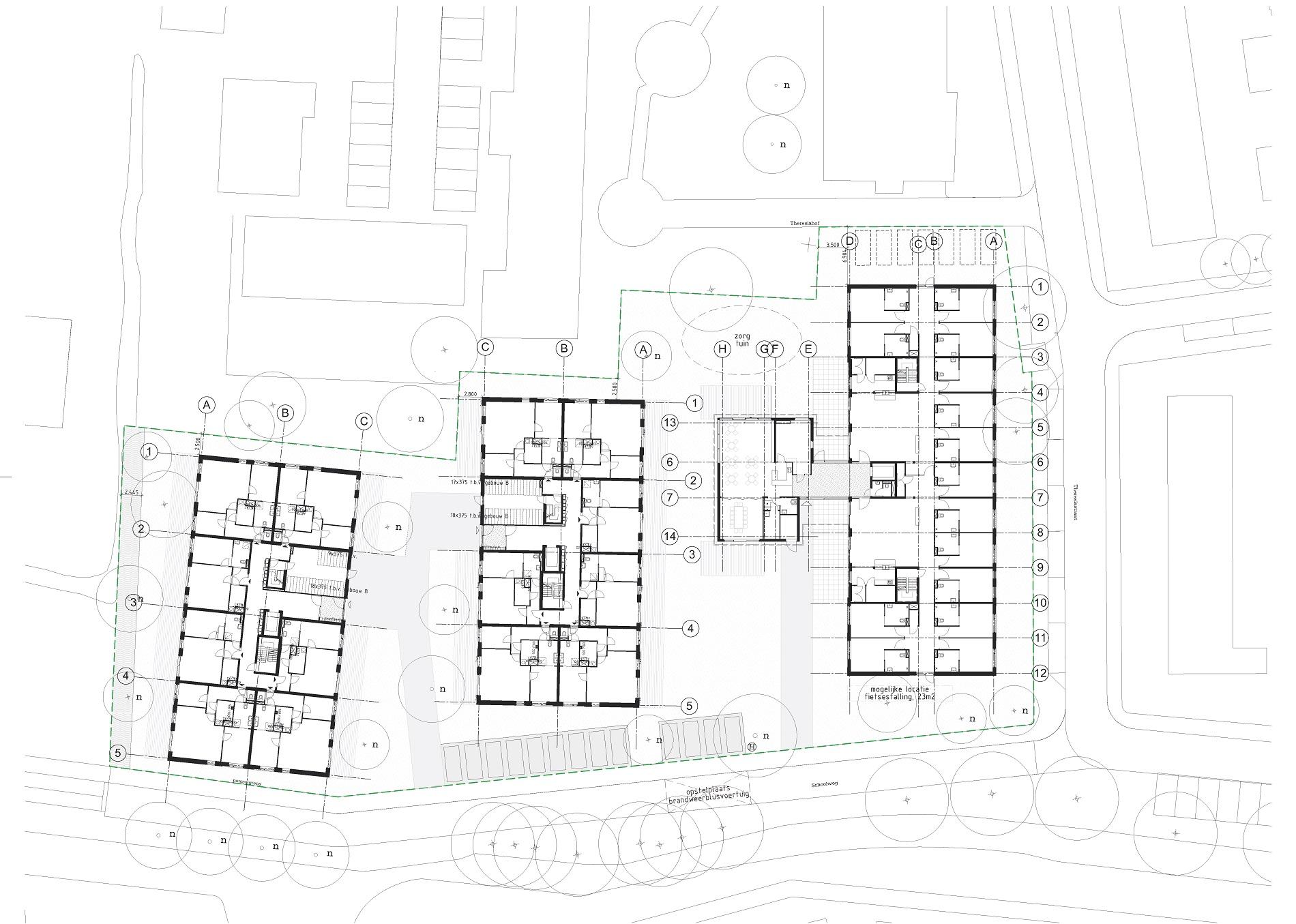 Woonzorgcomplex Theresia Ouderkerk aan de Amstel plattegrond