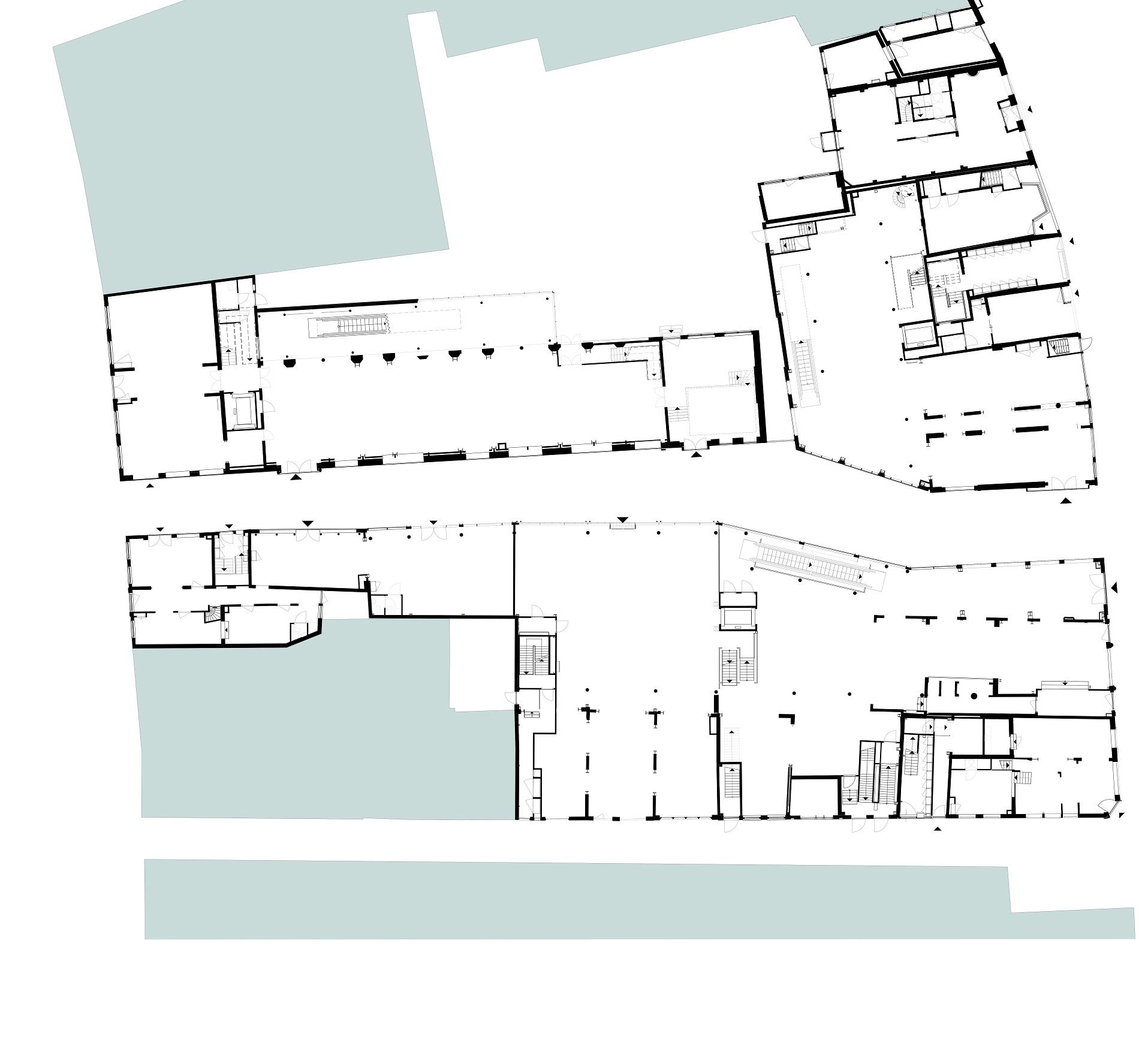 Plattegrond van Catharinasteeg en Aalmarkt in Leiden door Rijnboutt