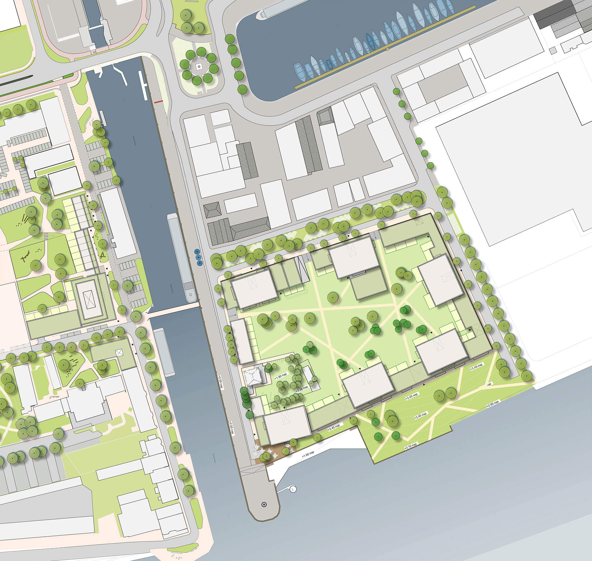 Plankaart van Eiland van Speyk in Rivierzone Vlaardingen door Rijnboutt
