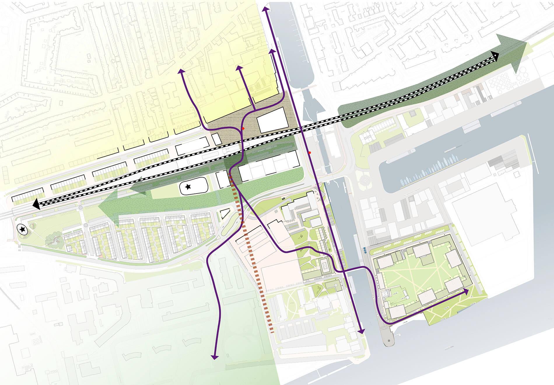 Plankaart van Rivierzone Vlaardingen door Rijnboutt